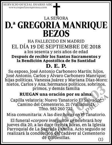 Gregoria Manrique Bezos